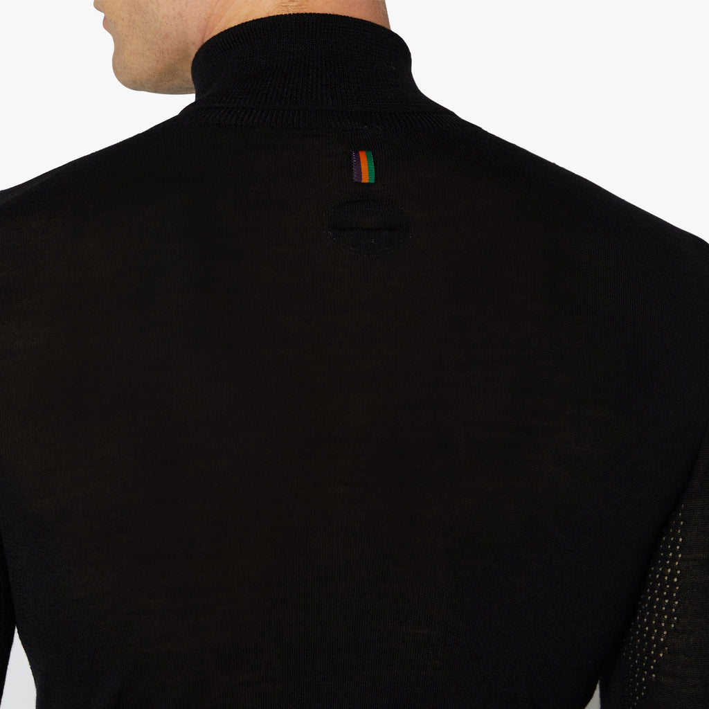 Bodmin Merino Roll Neck Raven Black