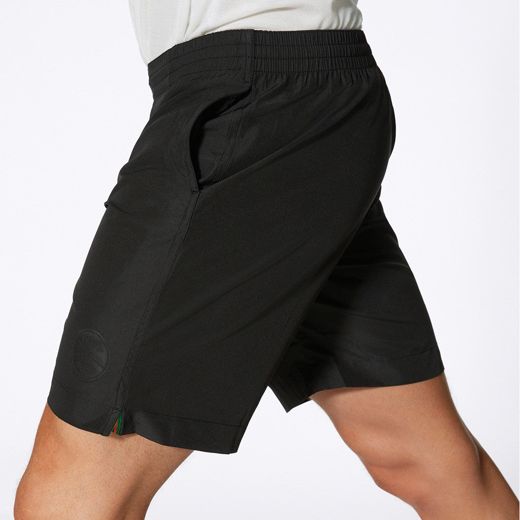 "Hampton 8"" Running Shorts in Black"