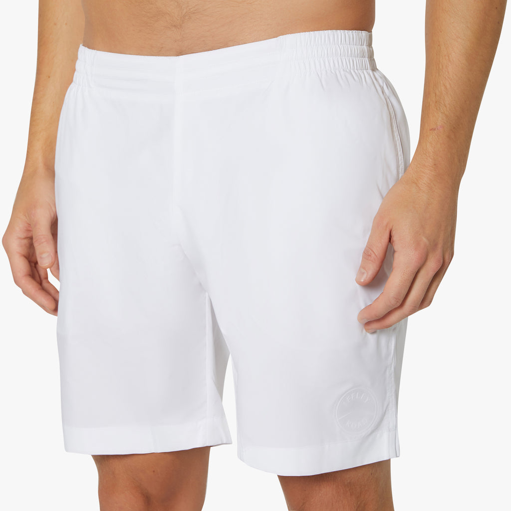 "Hampton 8"" Slim-Fit Shorts Dover White"