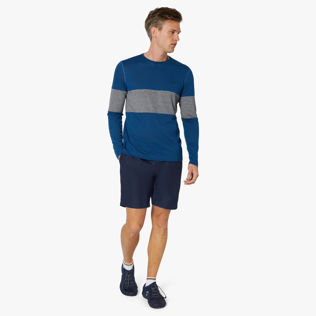 Hove Drirelease® Long Sleeve Top Oxford Blue