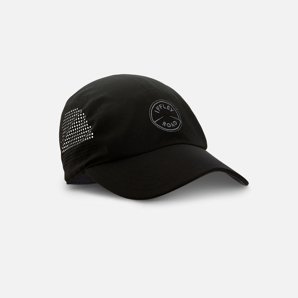 Putney Running Cap Gravel Black