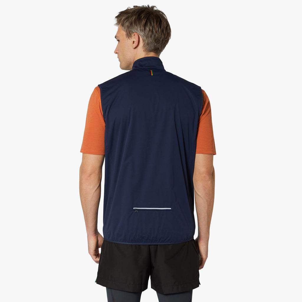 Sheen II Waterproof Gilet Night Sky Orange