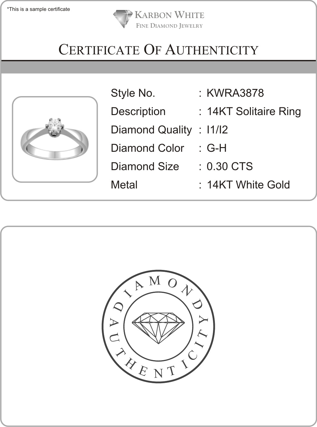 Buy 14kt white gold wedding ring with 14 carat tw of diamonds free shipping free engraving certificate of authenticity yadclub Gallery