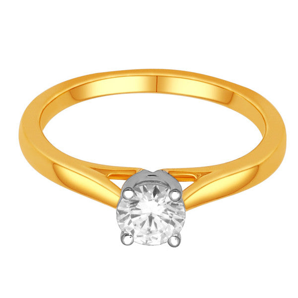 14Kt Yellow Gold Solitaire Diamond Ring With 1/2 Carat Round Diamond