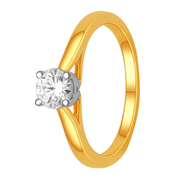 Gia Certified 14Kt Yellow Gold Solitaire Diamond Ring With 1/2 Carat Round Diamond
