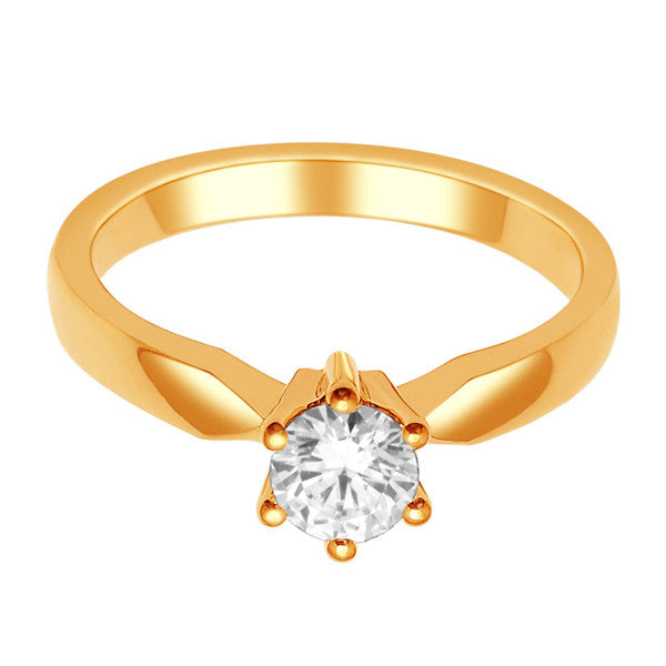 14Kt Rose Gold Solitaire Diamond Ring With 1/2 Carat Round Diamond