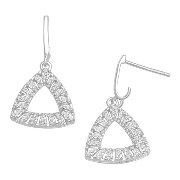 Drop Earrings With 1/3 Carat Tw Diamonds In 14Kt White Gold