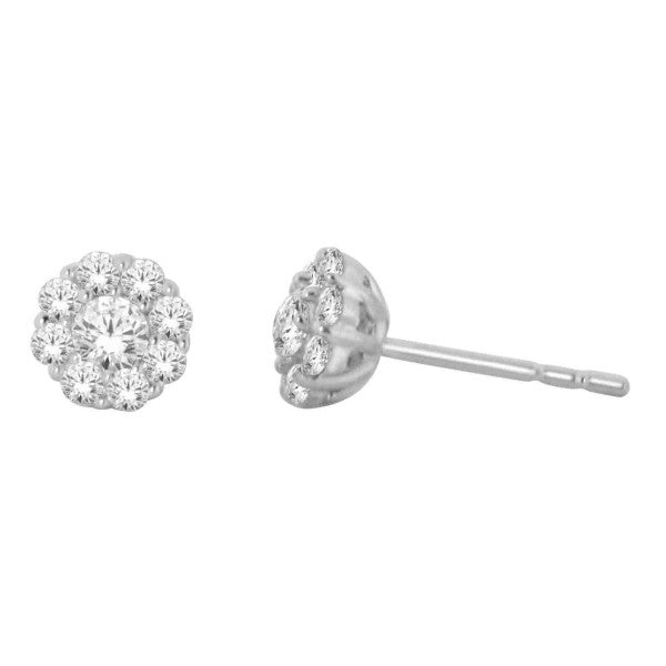 14Kt White Gold Fashion Earrings With 1/2 Carat Tw Of Diamonds