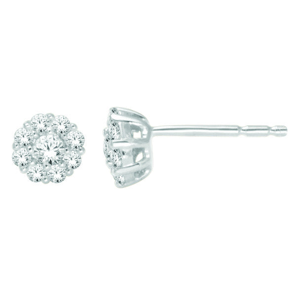 14Kt White Gold Fashion Earrings With 1/3 Carat Tw Of Diamonds
