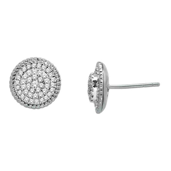 14Kt White Gold Fashion Earrings With 3/8 Carat Tw Of Diamonds