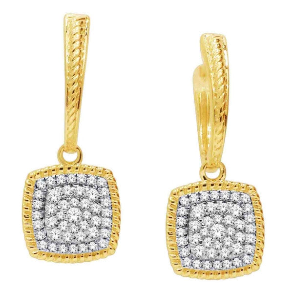 14Kt Yellow Gold Fashion Earring With 1/3 Carat Tw Of Diamonds