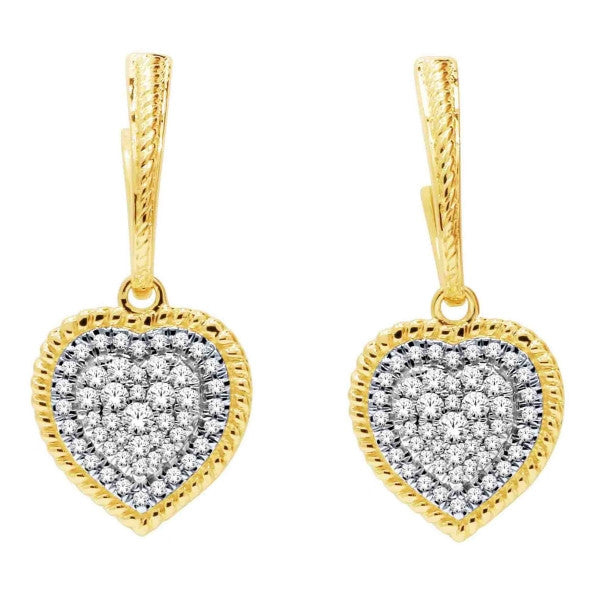 14Kt Yellow Gold Fashion Earrings With 3/8 Carat Tw Of Diamonds