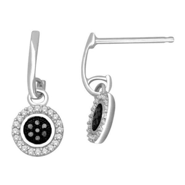 14Kt White Gold Fashion Earrings With 1/5 Carat Tw Of Diamonds