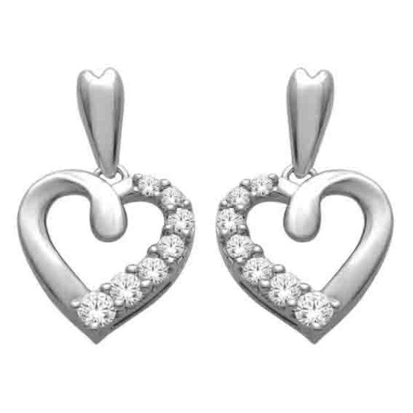 Drop Earrings With 1/4 Carat Tw Diamonds In 14Kt White Gold
