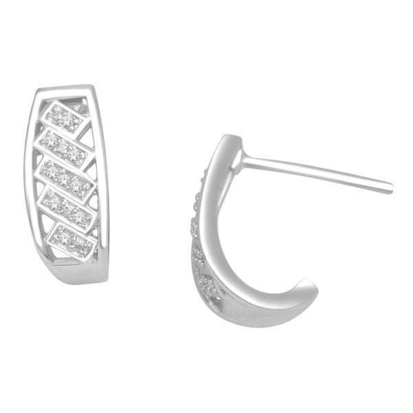 Drop Earrings With 0.05 Carat Tw Diamonds In 14Kt White Gold