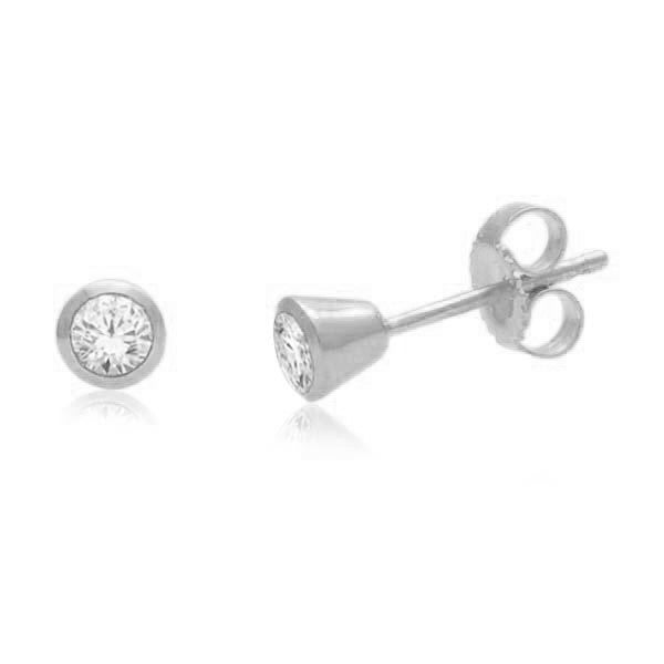 Stud Earrings With 1/4 Carat Tw Diamonds In 14Kt White Gold