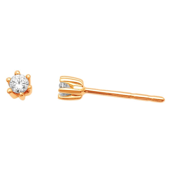 Stud Earrings With 1/10 Carat Tw Diamonds In 14Kt Yellow Gold