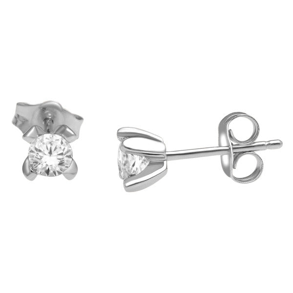 Stud Earrings With 1/2 Carat Tw Diamonds In 14Kt White Gold