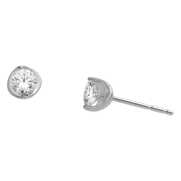Stud Earrings With 3/8 Carat Tw Diamonds In 14Kt White Gold