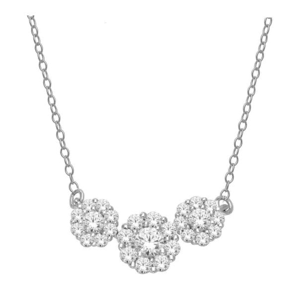 14Kt White Gold Diamond Necklace With 1/2 Carat Tw Of Diamonds
