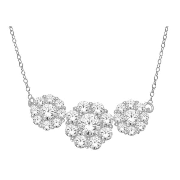 14Kt White Gold Diamond Necklace With 1.99 Carat Tw Of Diamonds