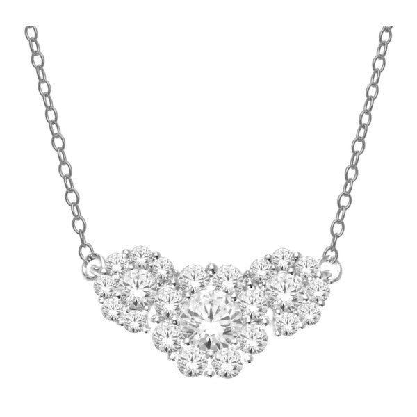 14Kt White Gold Diamond Necklace With 1 Carat Tw Of Diamonds