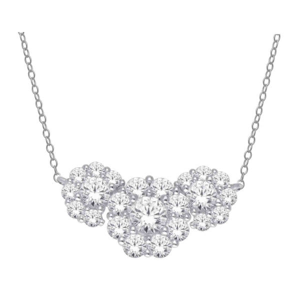 14Kt White Gold Diamond Necklace With 2 Carat Tw Of Diamonds