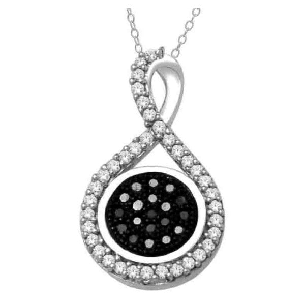 14Kt White Gold Fashion Pendant With 1/8 Carat Tw Of Diamonds