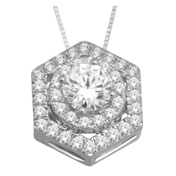 14Kt White Gold Fashion Pendant With 0.55 Carat Tw Of Diamonds