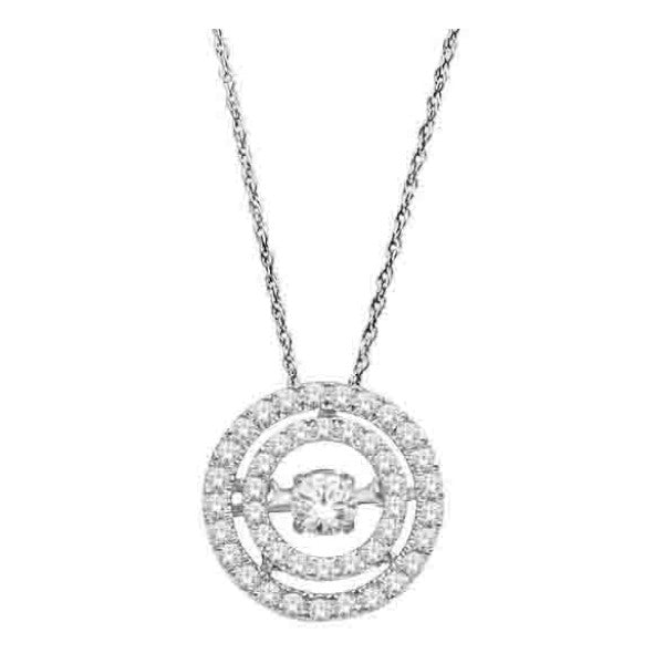 14Kt White Gold Fashion Pendant With 3/8 Carat Tw Of Diamonds