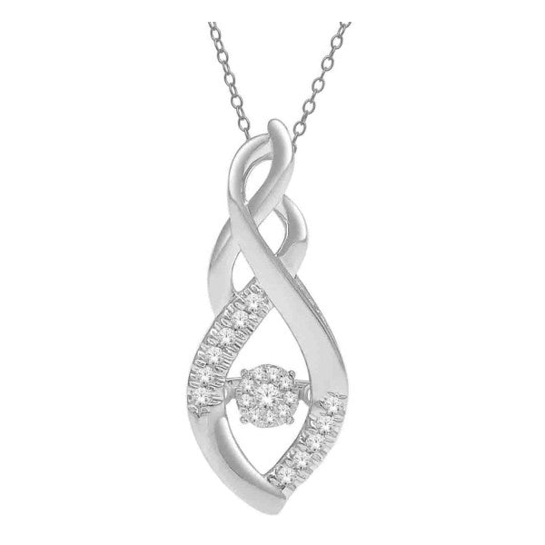 10Kt White Gold Fashion Pendant With 1/8 Carat Tw Of Diamonds