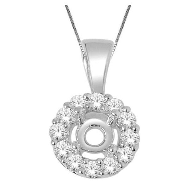 14Kt White Gold Fashion Pendant With 0.66 Carat Tw Of Diamonds