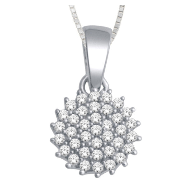 14Kt White Gold Fashion Pendant With 1/5 Carat Tw Of Diamonds