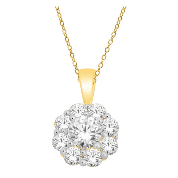 14Kt Yellow Gold Fashion Pendant With 1/2 Carat Tw Of Diamonds