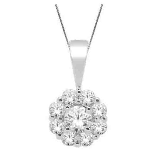 14Kt White Gold Fashion Pendant With 1/2 Carat Tw Of Diamonds