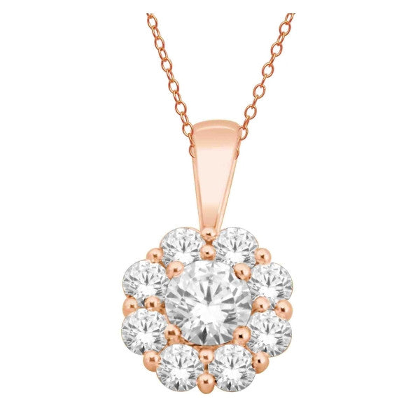 14Kt Rose Gold Fashion Pendant With 3/4 Carat Tw Of Diamonds