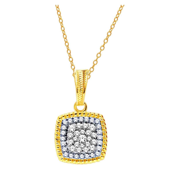 14Kt Yellow Gold Fashion Pendant With 1/3 Carat Tw Of Diamonds