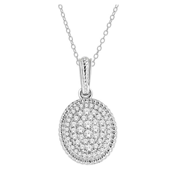 14Kt White Gold Fashion Pendant With 1/3 Carat Tw Of Diamonds