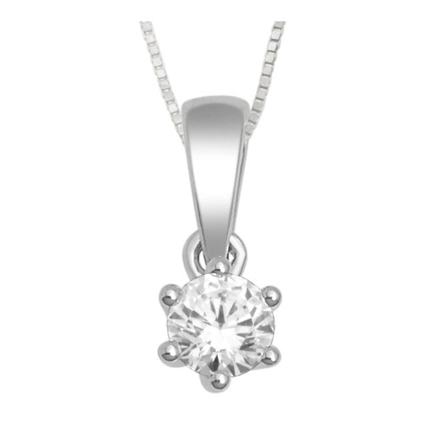 Buy 10kt white gold single diamond pendant with 18 carat tw of buy 10kt white gold single diamond pendant with 18 carat tw of diamonds online karbon white aloadofball Choice Image
