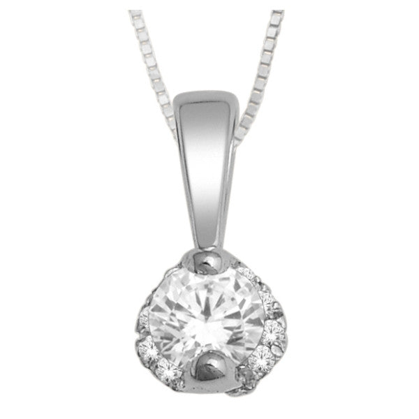 14Kt White Gold Fashion Pendant With 0.18 Carat Tw Of Diamonds