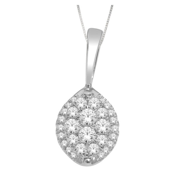14Kt White Gold Fashion Pendant With 1/4 Carat Tw Of Diamonds