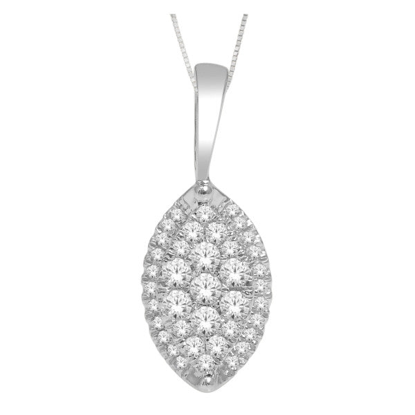 14Kt White Gold Fashion Pendant With 0.28 Carat Tw Of Diamonds