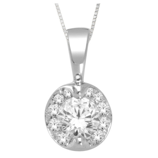14Kt White Gold Fashion Pendant With 1 Carat Tw Of Diamonds