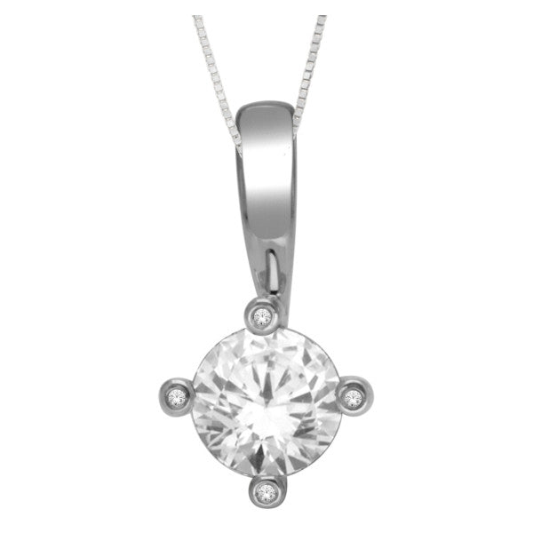 14Kt White Gold Fashion Pendant With 0.91 Carat Tw Of Diamonds