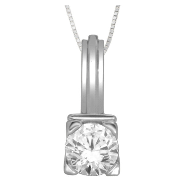 Buy 14kt white gold single diamond pendant with 12 carat tw of buy 14kt white gold single diamond pendant with 12 carat tw of diamonds online karbon white aloadofball Choice Image