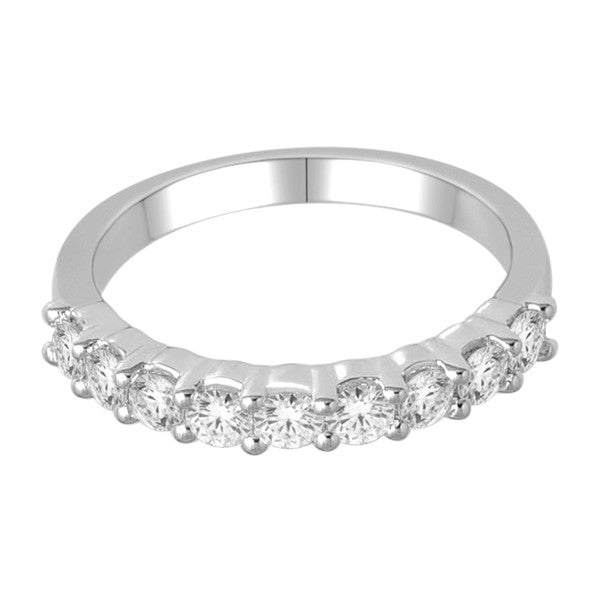 Wedding Band With 3/4 Carat Tw Of Diamonds In 18Kt White Gold