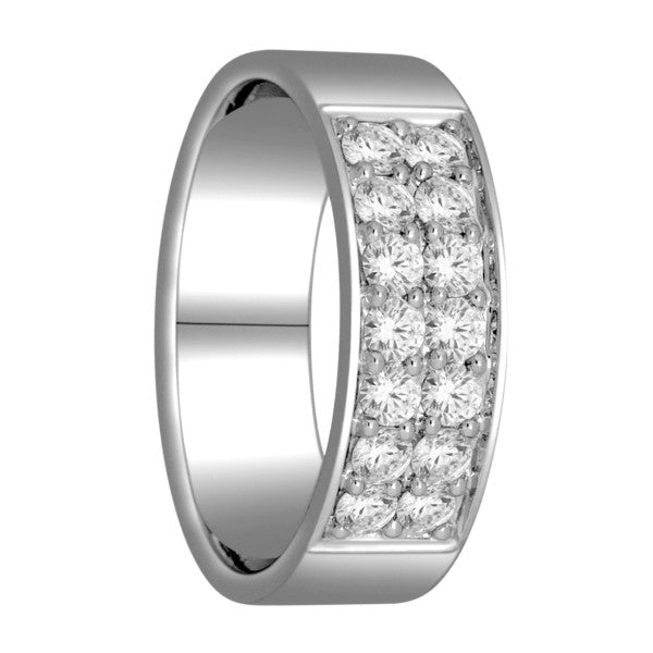 Wedding Band With 0.70 Carat Tw Of Diamonds In 18Kt White Gold