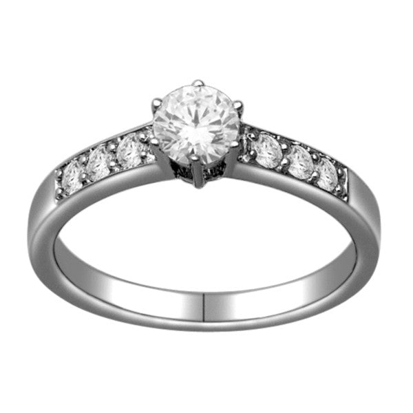 Seven Stone Diamond Ring With 3/4 Carat Tw Of Diamonds In 18Kt White Gold