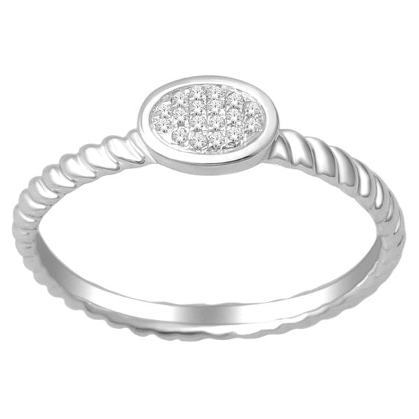 Diamond Stackable Ring With 1/20 Carat Tw Of Diamonds In 10Kt White Gold