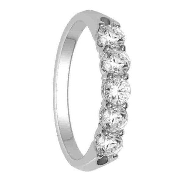 Five Stone Diamond Ring With 3/4 Carat Tw Of Diamonds In 18Kt White Gold